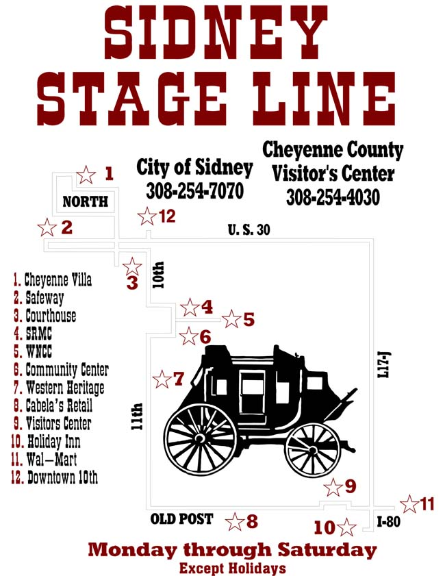 View a larger image of the Bus Map.
